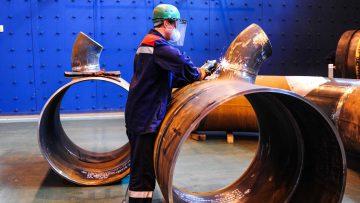 Prace na budowie instalacji Siemens w Płocku